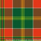 MacDonald of Kingsburgh Ancient Mediumweight Kilting Cloth By The Metre